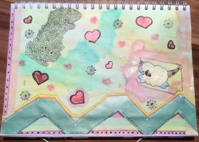 Art Journal Page -even pokemon do dream- by saphiraly