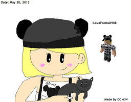 ILoveFootball908 with her Kitty (Drawn 2013) by Geoffman275