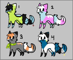 4 more cat adopts ALL TAKEN by AmazingAdoptablez