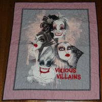 Vicious Villains Panel Quilt by quiltoni