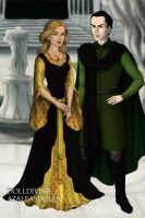 Helga Hufflepuff and Salazar Slytherin by Kailie2122