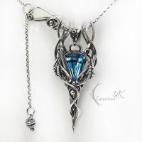 LUANTRIEEL - silver and topaz by LUNARIEEN