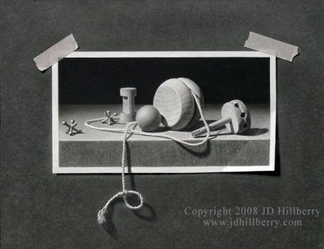 Trompe L'oeil Drawing by JD-Hillberry