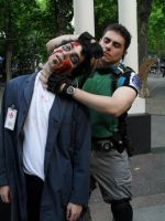 Chris vs zombie by Chris--Redfield
