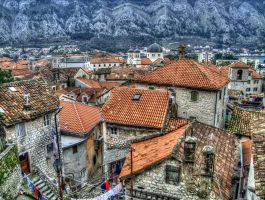 HDR old city Kotor by rade32