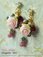Rose Blush earrings by littleorangetree