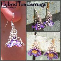 Hybrid Tea Earrings by immortaldesigns