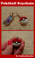 Pokeball Keychain by Laleira-Granite
