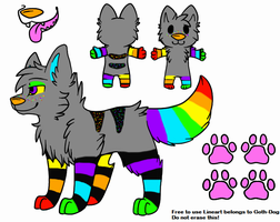 Rainbow Canine Adoptable-CLOSED by Wolfies--Adopts