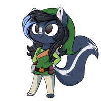 Little skunk hero by Lustrous-Dreams