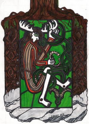 Underworld Cernunnos +knotwork