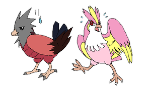 spearow and pidgey by frigidbloodalchemist