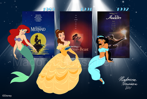 My Three Disney Favorites :D by ColorfulArtist86