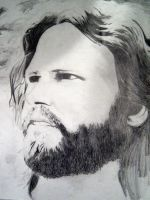 Graphite of Jim Morrison by sway220