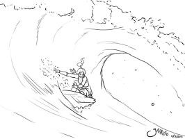 Korra Surf Sketch by Yamino