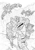Soundwave and Friends (inks) by J-Rayner