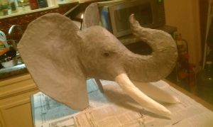 Elephant Step Four: Paint by mcdurfeek