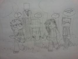 Cops N' Robbers - Slenderman Mod Sketch by SweetLuvs1D