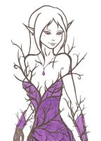 purple elf by Etherick