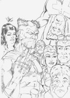Celtic Knights Cover Pencils by GerHankey