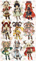 CLOSED: REINDEER GAMES ADOPTABLE AUCTION by Lolisoup