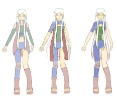 Rough Sketches Of Shiori's Shippuden Outfits by Shiori92