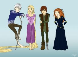 Dreamworks Disney Teens by dewdrop34