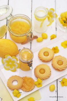 Homemade Lemon Curd w/ Shortbread Cookies by theresahelmer