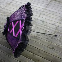 Purple Laced Spiderweb Parasol by dbvictoria