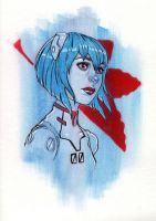 Daily Sketches- Ayanami Rei by chrissie-zullo