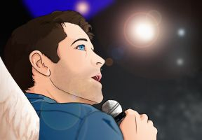 Castiel Singing by Zafona