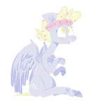 Flower Power Derpy Hooves by Blleeeaauuurrgghhh