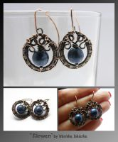 Elowen- wire wrapped earrings by mea00