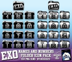 EXO Names and Numbers Folder Icon Pack by Rizzie23