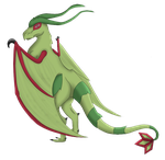 Collab: Barrow the Flygon by Angel-Hearted-Being