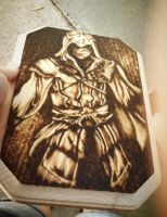 Ezio Woodburning by gretzkyfan99