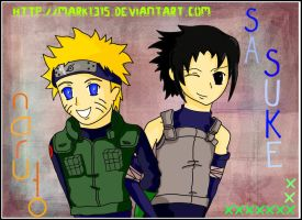 SasuNaru .:Best Friends:. by mark1315