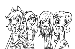 Yay! (?) AJ, Vale, Me And Fluttershy ^^ by Ctlna0199