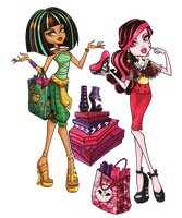 I Heart Shoes Cleo and Draculaura by ShaiBrooklyn