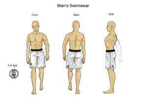 TKD Swimsuit Male by RinnG