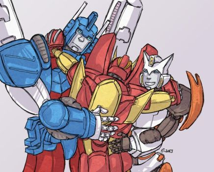 Rossum's Trinity - Transformers by Sharky-chan