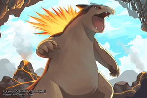 Typhlosion by seiryuuden