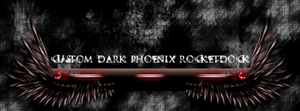 Custom Rocketdock skin Dark Phoenix by Twipex