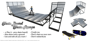 MMD Skate Ramps [DL] by NyaLinaa