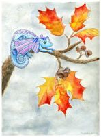Acorn Dragons' Autumn by kaikaku