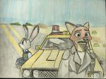 Nick and Judy as Road Warriors (100th special) by EJLightning007arts