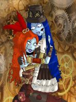 Emily and Sally-Steampunk by Lttle-Horrors
