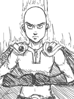 Saitama ready to punch by borockman