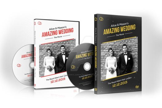 Wedding DVD / Blu-ray Covers with Disc Labels by iamvinyljunkie