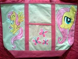 Fluttershy handpainted tote bag FOR SALE by Miss-Melis